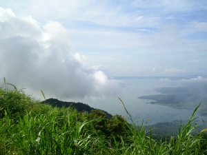 The clouds kissing the Taal volcano