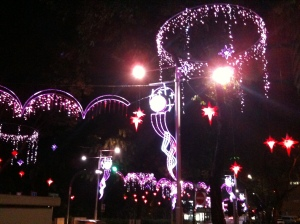 Purple light-up at Orchard, Christmas in Singapore