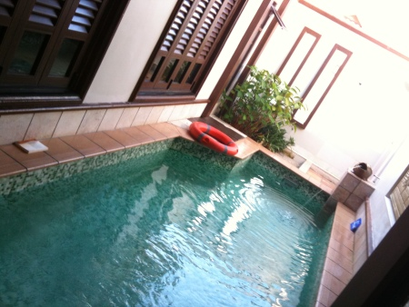Private swimming pool, International Legend Water Homes, Port Dickson, Malaysia