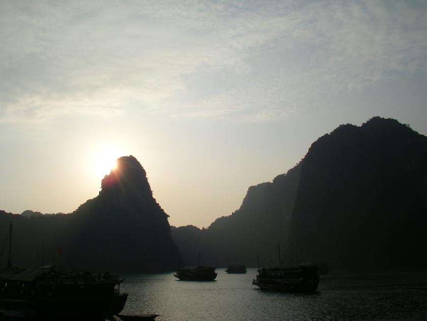 Halong bay, vietnam, sunrise, travel, southeast asia