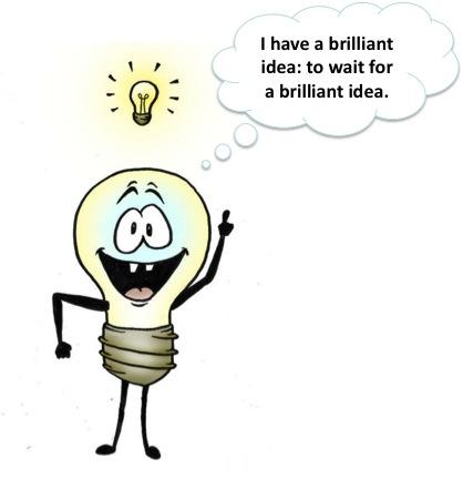 brilliant idea, brainstorming