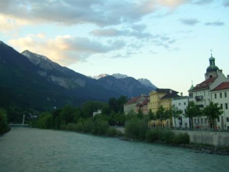 Innsbruck river, Austria, Alps, Europe