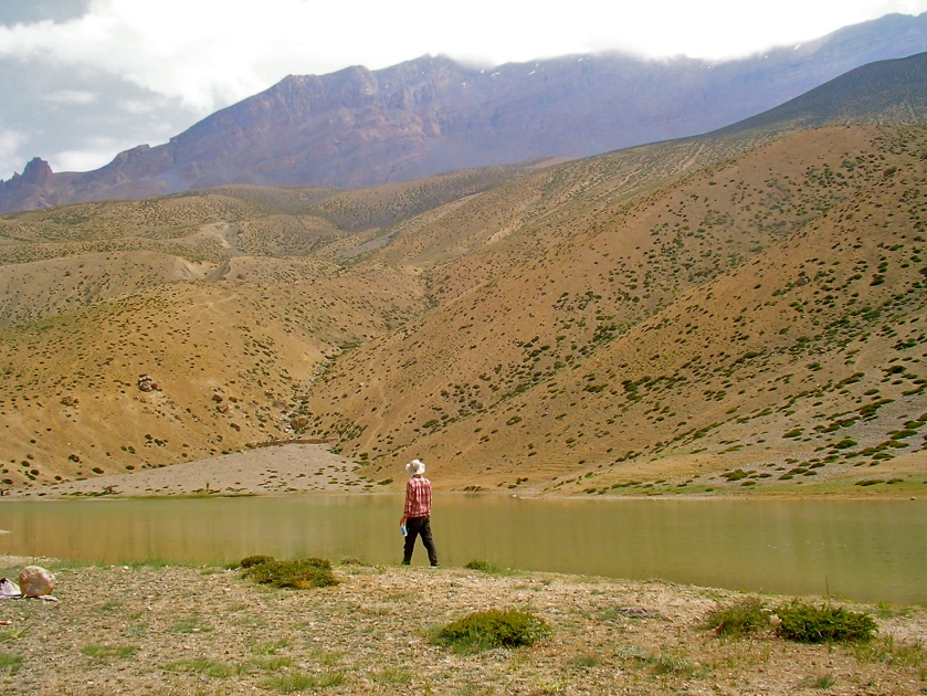 dhankar lake spiti, dhankar lake