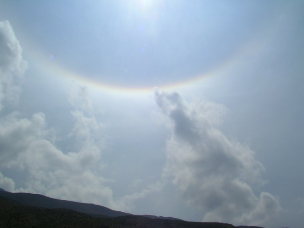 dhankar, dhankar lake, spiti, spiti valley, india, offbeat travel, rainbow, sun, sky
