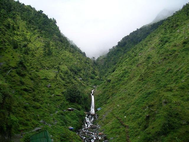 Mcleodganj, dharamsala, himalayas, greenery, waterfall