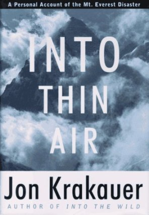 Into thin air, jon krakauer, best travel books