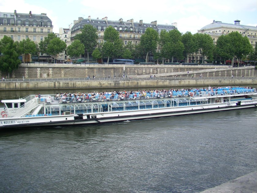 River Seine, Paris, tourist boat