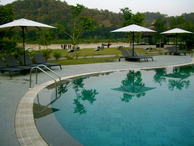 Club Mahindra, Mahindra Holidays, Safari resort, Jim Corbett, Swimming pool