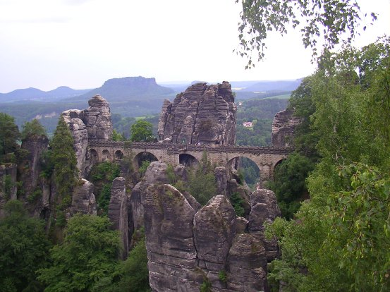 Saxony, Germany, Bastei bridge