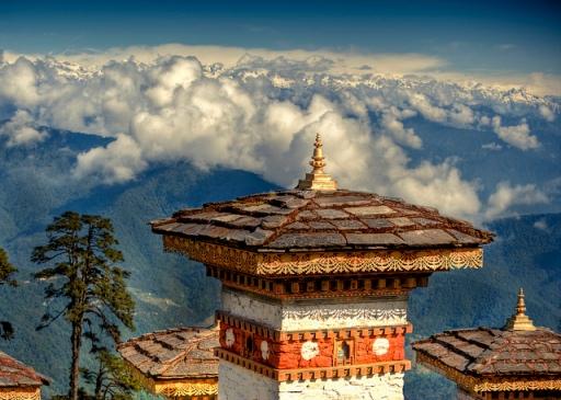 Bhutan, monastery, dochumla pass
