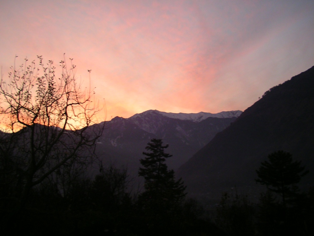 Himalayas, sunset, Raison, Manali