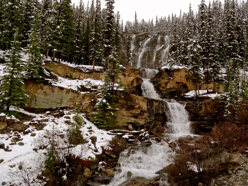 Jasper waterfalls, Tangle waterfalls, Jasper attractions, things to do in Jasper