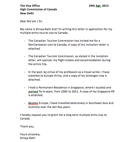 cover letter for indonesia visa application