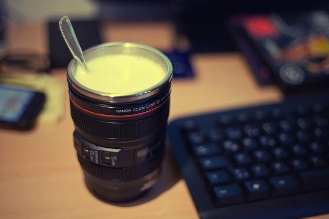 photographer mug, camera flask, quit job to travel