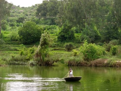 Anegundi, coracle boat, Hampi photos