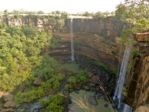 panna dhundua, panna waterfall, panna national park