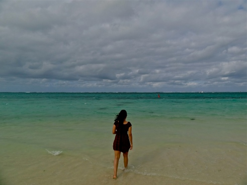 Walking away in Mauritius!