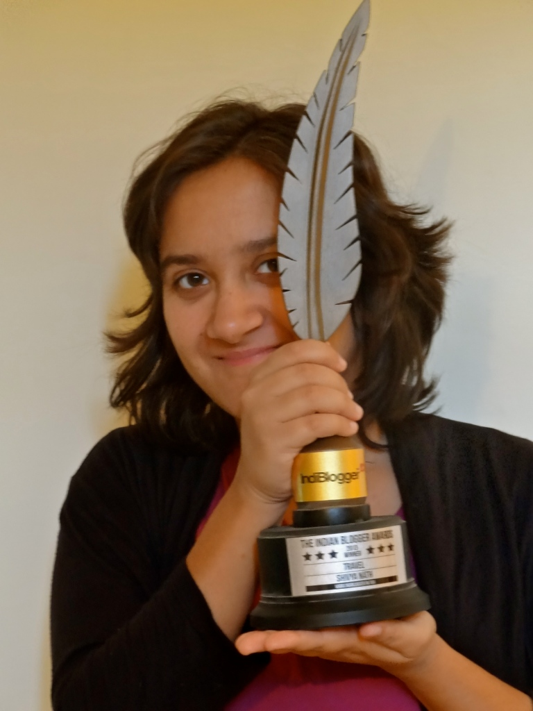 best indian travel blogger award, Indian blogging awards, Indiblogger awards, shivya Nath