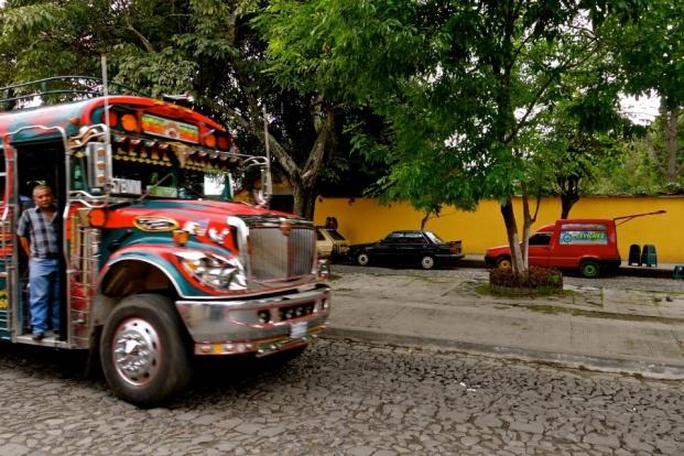 chicken bus guatemala, antigua guatemala transport
