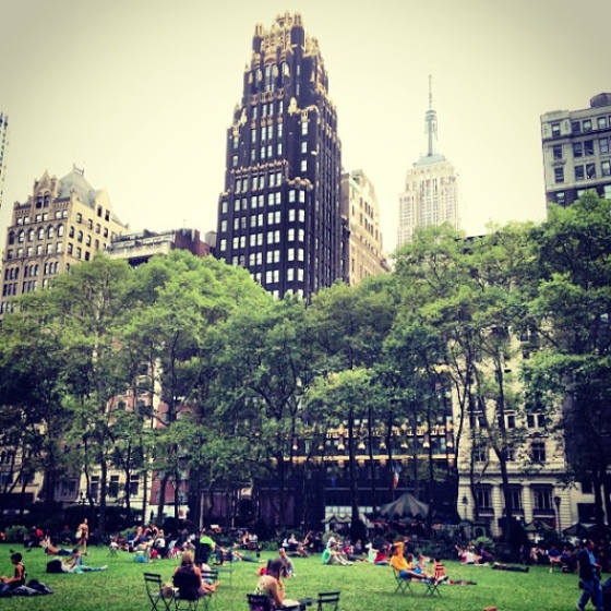 Bryant park nyc, free wifi nyc, free attractions nyc