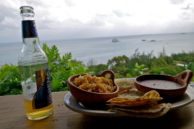 Mi Casa too Guanaja, Honduras food, Honduras vegetarian food