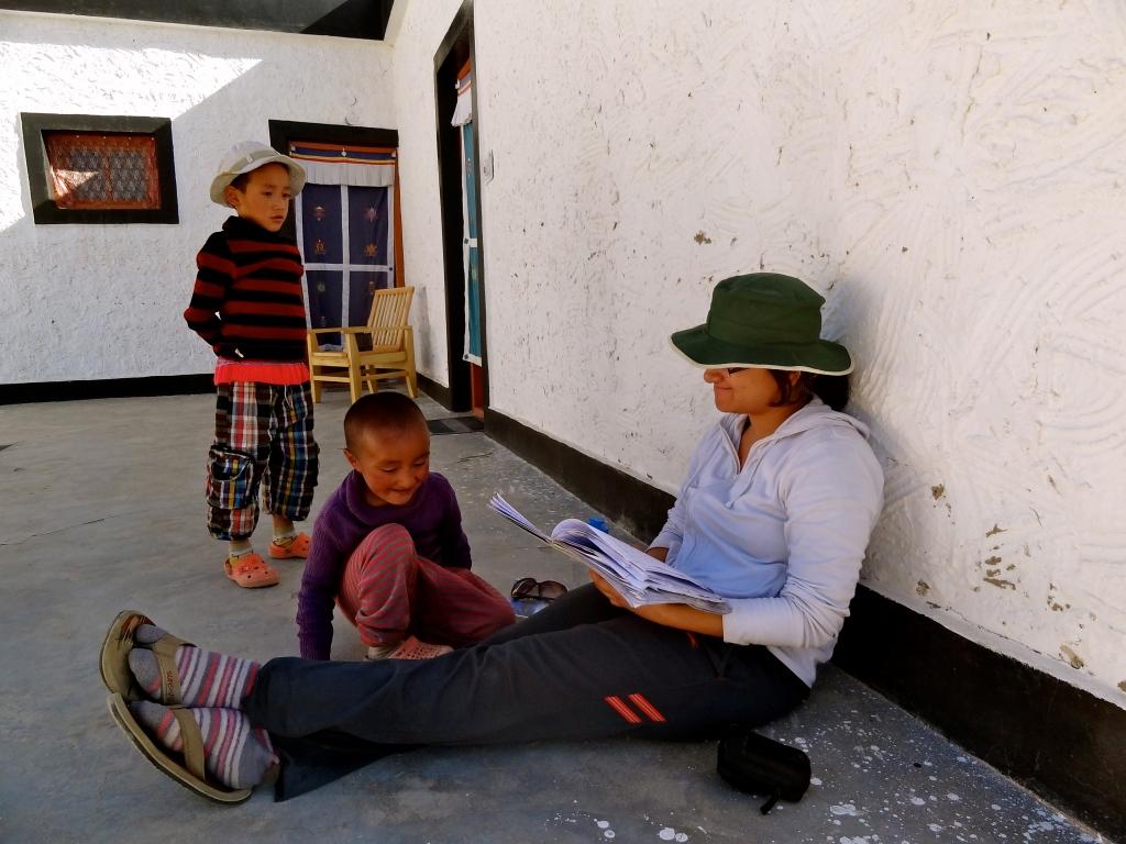 Ladakh nuns, Ladakh photos, Thiksey nunnery