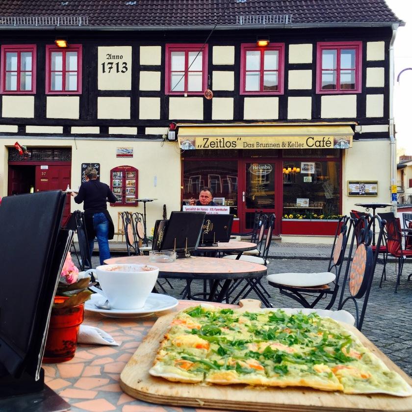 Germany vegetarian food, flammkuchen germany