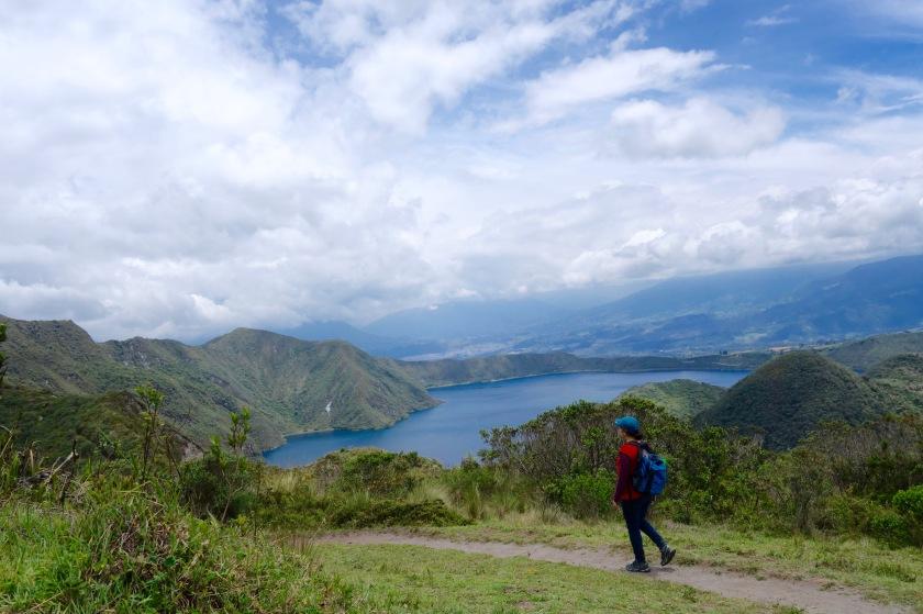 cuicocha lake ecuador, solo travel ecuador