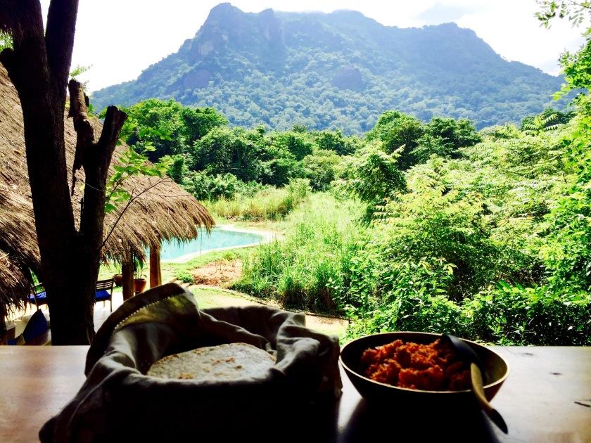 gal oya lodge, sri lanka travel blog, sri lanka food