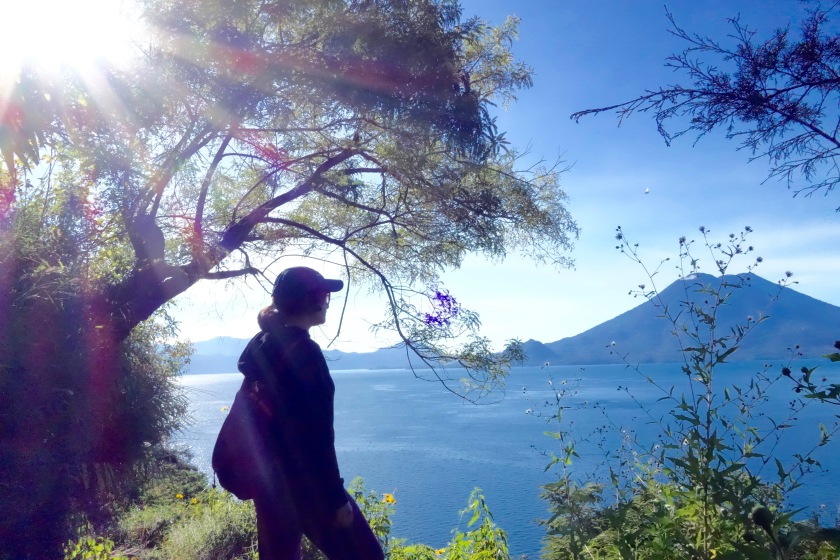 hiking lake atitlan, santa cruz to jaibalito hike