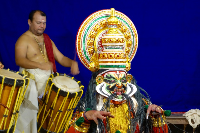 kathakali kerala, where to see kathakali kerala, kerala the blue yonder
