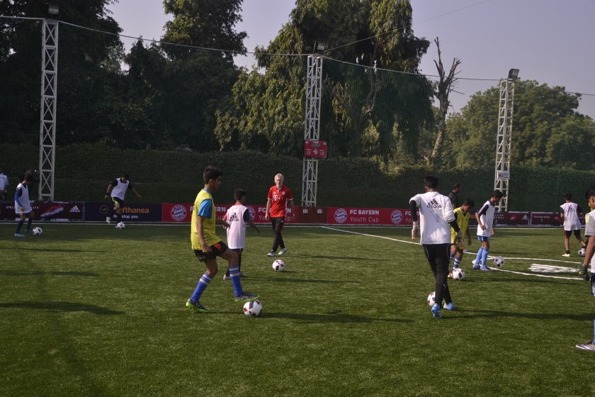 Lufthansa football masterclass, FC bayern cup india, lufthansa india