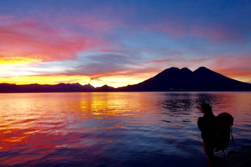 sunrise lake atitlan, lake atitlan guatemala, guatemala travel blogs