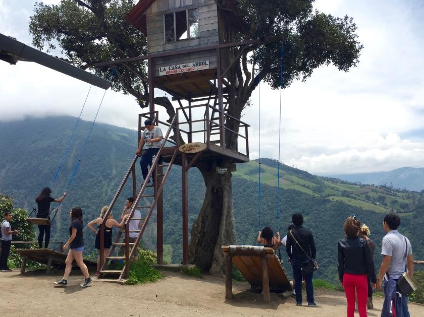 casa del arbol banos, banos ecuador, end of the world swing ecuador