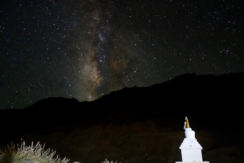 Kaza night sky, spiti night sky, spiti photos, spiti blog